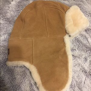 Ugg shearling hat in chestnut.  Brand new w/tags!